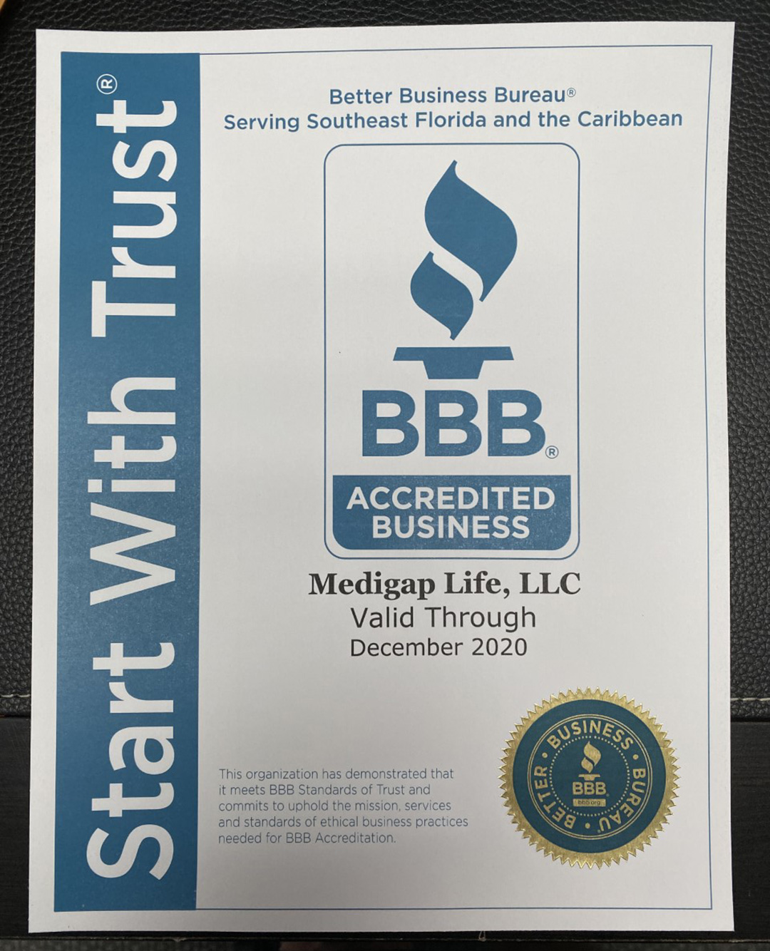 Medigap Life BBB Accreditation