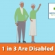 1 in 3 are Disabled